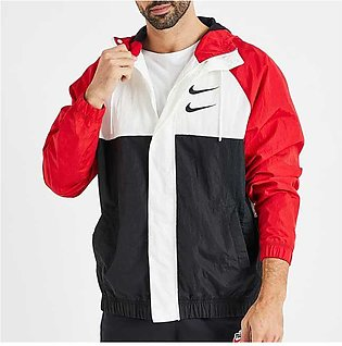 Nike Swoosh NSW Hooded Jacket Red/Black for Men