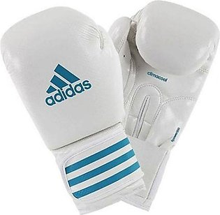 Adidas Pair Of F-Power 200 Boxing Gloves White/Blue 8ounce FPOWER200
