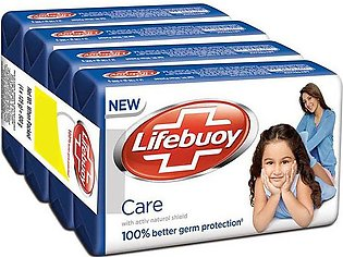 Buy Pack of 4 Lifebouy Care Soap 155g & Get 1 Free