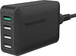 RAVPower RP-PC024 40W 4-Port Charging Station with Quick Charge 3.0 With Offici…