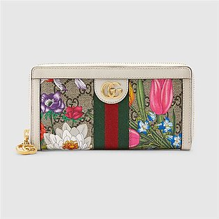Gucci Ophidia Gucci Flora Zip Around Wallet