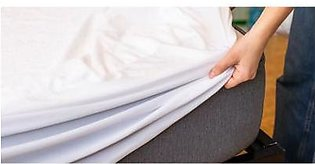 Waterproof Mattress Protector - King Size White By Knit that Fits
