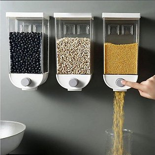 3 Pieces Wall Mounted Cereal Dispenser 1.5KG