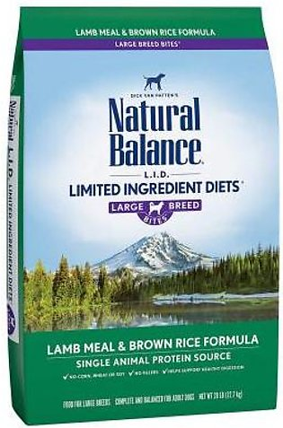 Natural Balance L.I.D. Limited Ingredient Diets Lamb Meal & Brown Rice Large Br…