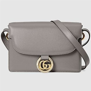 Gucci Small Dusty Grey Leather Shoulder Bag