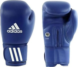 Adidas AIBAG1 Pair Of Aiba Boxing Gloves Blue/White 12ounce