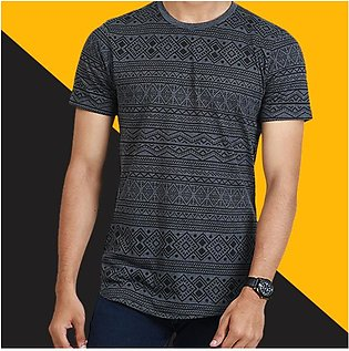 Textured Printed T-Shirt By RH