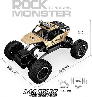 REMOTE CONTROL CAR METAL ROCK MONSTER CRAWLER 1:14 SCALE 2.4GHz 4WD MOUNTAIN RA…