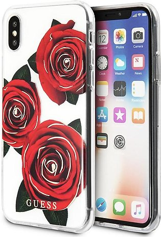 Guess Flower Desire Transparent Hard CaseFor iPhone X