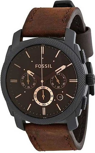 Fossil Men Water Resistant Leather Chronograph Watch FS4656