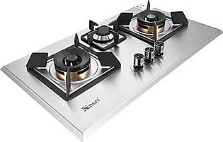 Xpert XST-3(117) Full Brass Built-in Steel Hob With Official Warranty