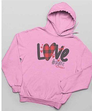 Love Printed Hoodie for Women By R&H