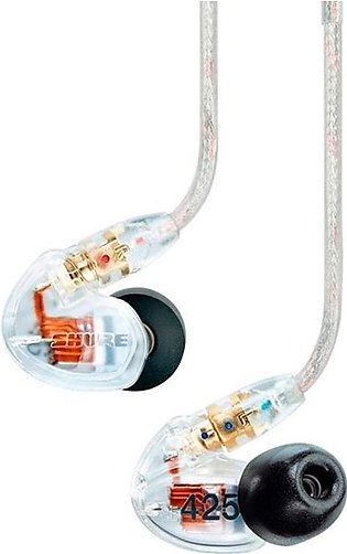Shure SE425 Sound Isolating Earphones With Dual High Definition MicroDrivers Cl…