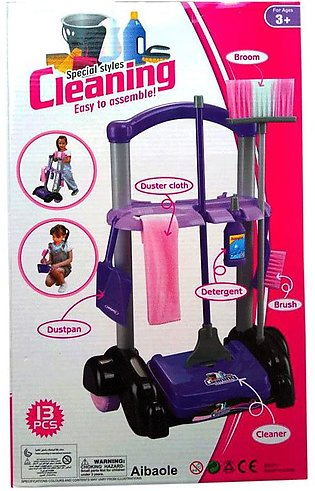 Girls Cleaning Trolley Set