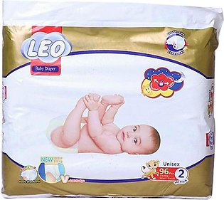 Leo Premium Baby Diapers Size (Small)- 96 Pcs
