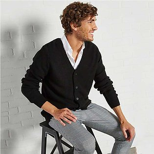 Trendyol Solid Buttoned Cardigan Black for Men