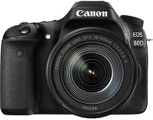 Canon EOS 80D DSLR Camera with 18-135mm