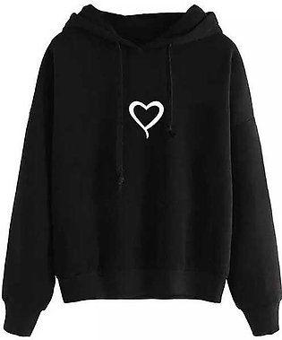 Black Heart Printed hoodie By RH