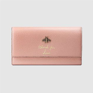 Gucci Light Pink Animalier Continental Wallet