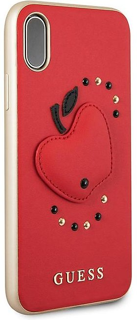 Guess Fruitistic PU Leather Hard Case For iPhone X