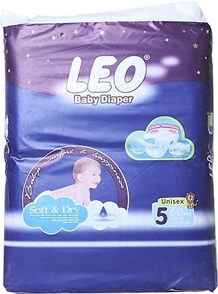Leo Normal Baby Diapers Size (XL) 60 Pcs