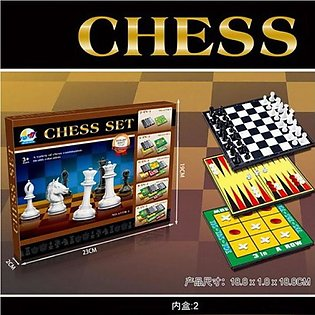 Chess Folding Board Game Set 6 In 1