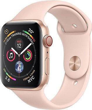 Apple Watch Series 4 MU6F2 44mm Gold Aluminum Case with Pink Sand Sport Band ...