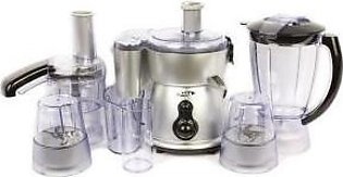 Gaba National GN-921 DLX 8 in 1 Food Processor Silver with Official Warranty
