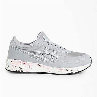 Asics Lace-Up Running Shoes Grey For Women