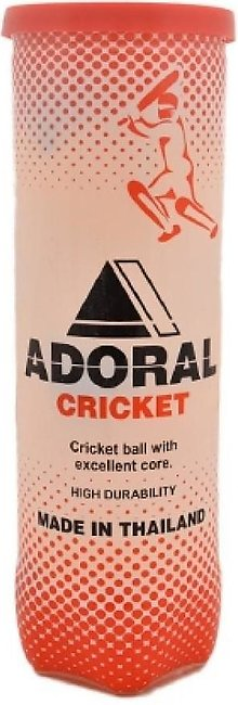 Adoral Pack of 3 - Cricket Tennis Ball - Yellow