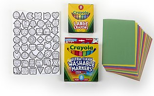Crayola My Creativity Case,Art Tools,Crayons & Markers,Portable Case For On-T...