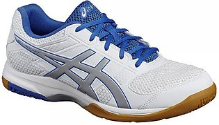 Asics Gel Rocket 8 Indoor Court Shoes-White, Silver & Classic Blue