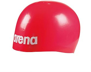 Arena Moulded Pro-II Swimming Cap-Red