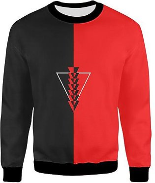 Two Face Red And Black Triangle UNISEX SWEATSHIRT