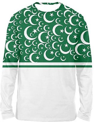 Green And White FULL SLEEVES T-SHIRTS
