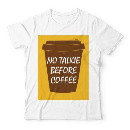 No Talkie Before Coffee KIDS GRAPHIC T-SHIRT