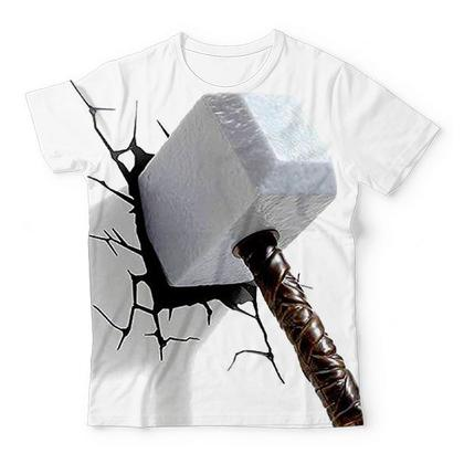 Thor Hammer Crack TShirts Design Art KIDS ALL-OVER PRINT T-SHIRT