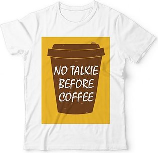 No Talkie Before Coffee UNISEX GRAPHIC T-SHIRT