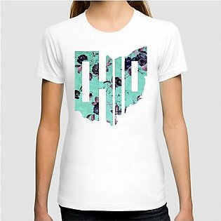 Floral Art Printed Graphic T-shirt