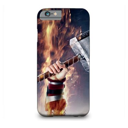 Captain America With Thor Hammer Mjolnir MOBILE COVER