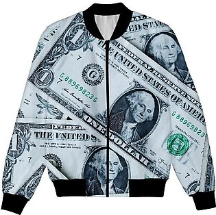 One Dollar Note USA, American Dollar All Over Print UNISEX JACKET