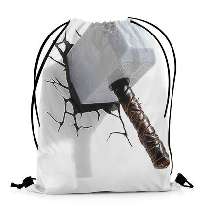 Thor Hammer Crack TShirts Design Art DRAWSTRING BAG