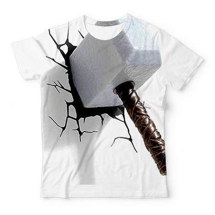 Thor Hammer Crack TShirts Design Art UNISEX ALL-OVER PRINT T-SHIRT