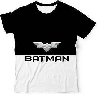 Batman Logo Low Poly Design In Grey and White Variants T shirts Black and Yel...