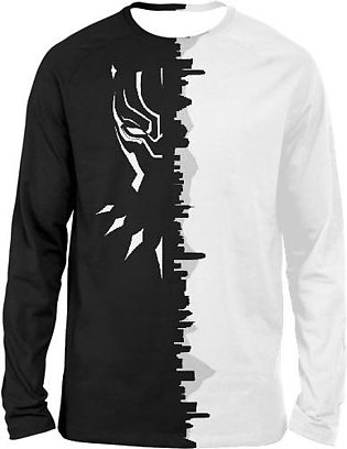 BLACK PANTHER BLACK AND WHITE FULL SLEEVES T-SHIRTS