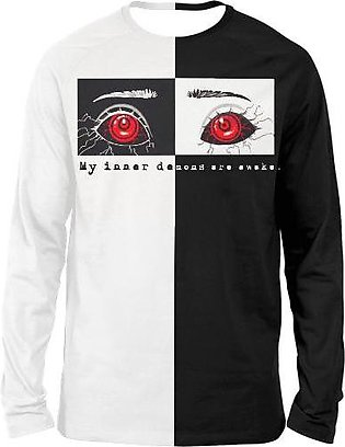 Tokyo ghoul eyes black and white FULL SLEEVES T-SHIRTS