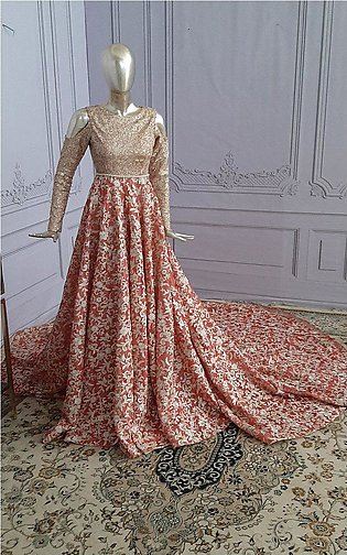 Unstitched Fully Embroidered Bridal Dress