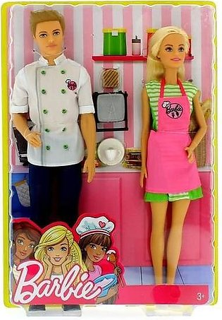 Barbie and Ken Dolls Cafe Chef