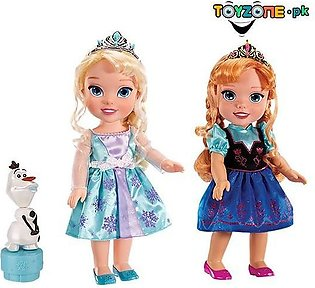 Disney Frozen Deluxe Elsa Anna Toddler Doll Set With Olaf Princess