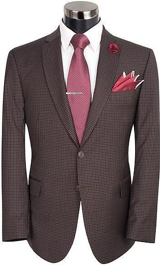 Brown And Black Check Suit